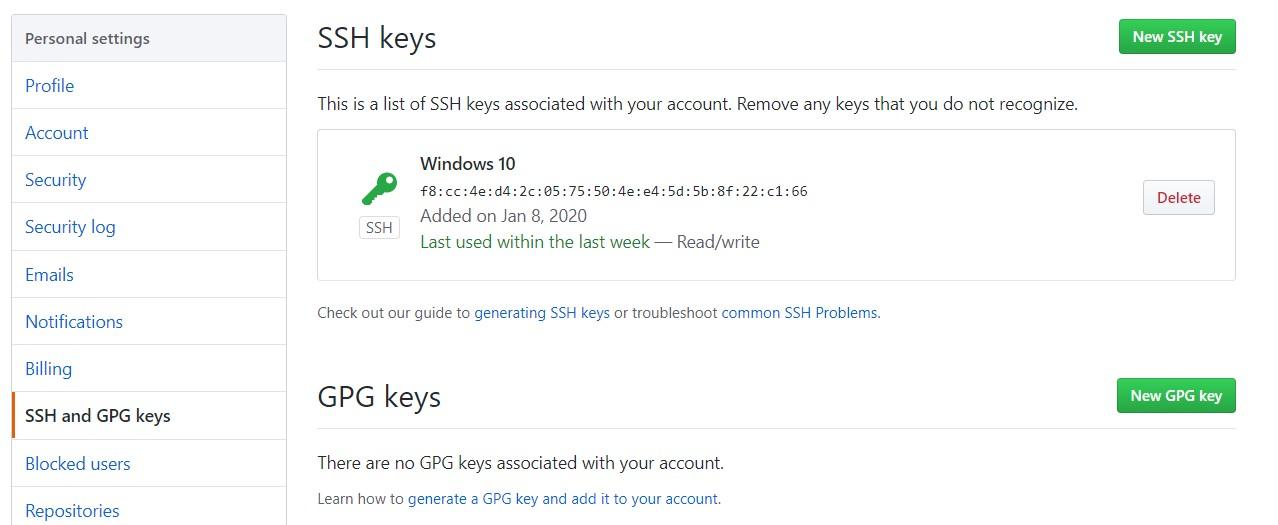 adding ssh key